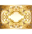 background painting frame with ornaments vector image