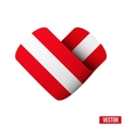 Flag icon in the form of heart I love Austria vector image