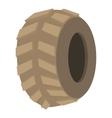 Big tire icon cartoon style vector image