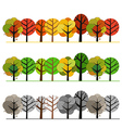 Different seasons of forest concept vector image