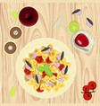 farfalle pasta with mussels vector image