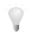 light bulb on white background vector image