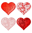 Set of Red Heart Symbolsd vector image