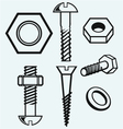 Set of screws vector image