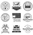 set of vintage home repair labels badges vector image