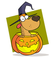 Cartoon Character Halloween Dog vector image