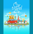 Dirrefent world famous sights Modern cityscape vector image