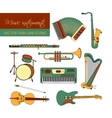 color thin line icons with different music vector image