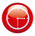 red clock emblem icon vector image