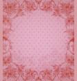 vintage floral pink background vector image vector image