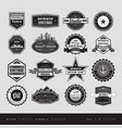 vintage retro labels black and white isolated vector image vector image