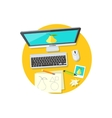 Design Graphic Work Space Flat vector image