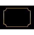 Gold frame Beautiful simple black vector image