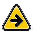 arrow right sign triangular sticker vector image