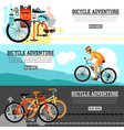 Biking Adventure Horizontal Banners vector image