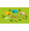 Campsite in the woods vector image
