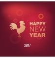 Happy Chinese new year 2017 vector image
