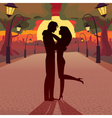 Love in the evening vector image