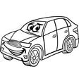 suv car cartoon coloring page vector image