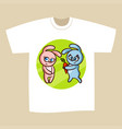 t-shirt print design bunny vector image