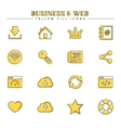 Business and web yellow fill icons set vector image