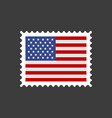 usa flag postage stamp vector image