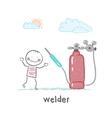 welder welding machine near vector image