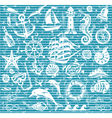 Nautical and sea icons set vector image