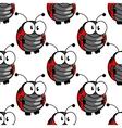Ladybug seamless background pattern vector image vector image
