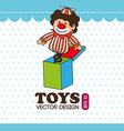 Toys design over white AND BLUE background vector image
