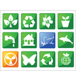 eco friendly buttons vector image