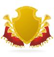 golden award and flourish vector image vector image