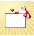 christmas card wiht santa vector image vector image