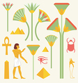 Egyptian symbols and signs vector image vector image