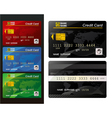 Set of credit card vector image