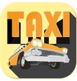 Vintage taxi car cartoon sketch icons vector image