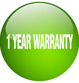 1 year warranty green round gel isolated push vector image