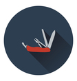 Icon of folding penknife vector image
