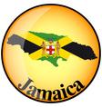 button Jamaica vector image