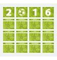 Calendar 2016 Soccer concept vector image