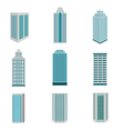 City building downtown landscape vector image