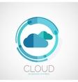 Cloud storage company logo minimal design vector image