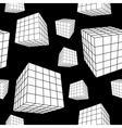 geometric cubes vector image