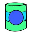 green plastic jar icon icon cartoon vector image