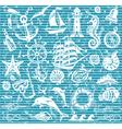 Nautical and sea icons set vector image