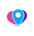 pin location travel logo vector image