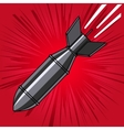 Comic style cartoon bomb with explosion Design vector image vector image