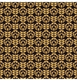 Pattern with gold flower on black background vector image vector image