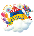 A circus above the clouds vector image vector image