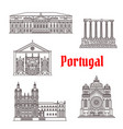 architecture portugal landmark buildings vector image